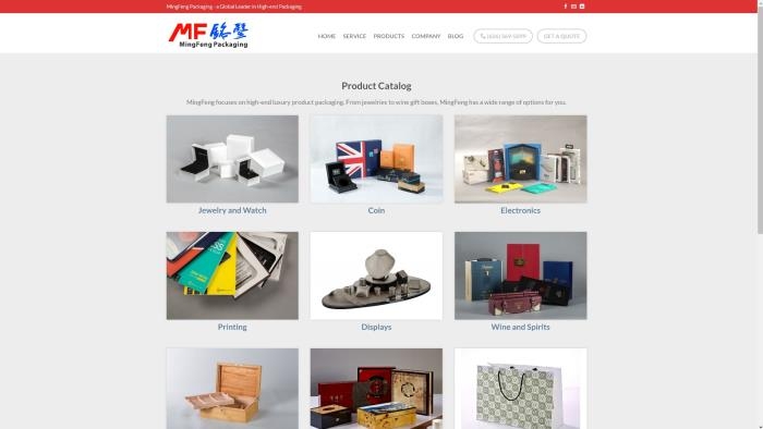 MingFeng Packaging launches its new web site to offer a better web browsing experience for visitors